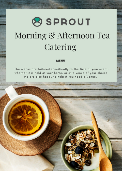 Cover of Morning & Afternoon Tea Catering