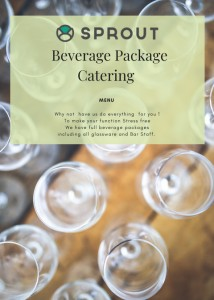 Cover of Sprout Catering Beverage Package