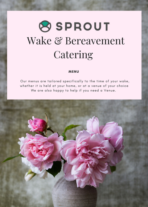 Cover page Sprout's Wake & Bereavement Catering